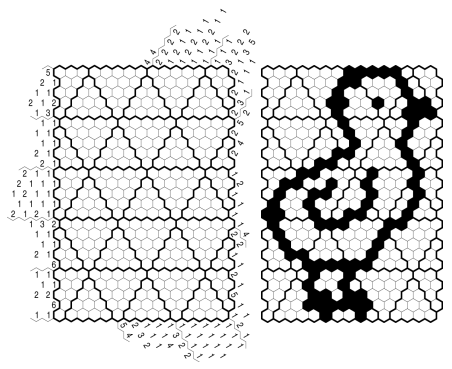 Example for a Honeycomb puzzle